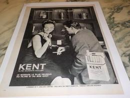 ANCIENNE PUBLICITE CIGARETTE KENT 1965 - Tabac (objets Liés)