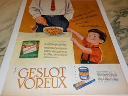 ANCIENNE PUBLICITE  POUR APERITIF GESLOT VOREUX 1958 - Affiches