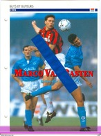 19/1 Fiche Football 25 X 18,5 Cm 2 Pages Marco VAN BASTEN NEDERLAND AC MILANO MILAN - Voetbal