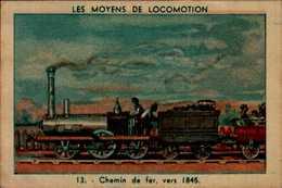 IMAGE.....LES MOYENS DE LOCOMOTIONS...CHEMIN DE FER VERS 1845.. - Vieux Papiers