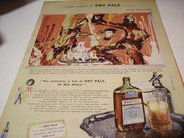 ANCIENNE AFFICHE PUBLICITE MARTELL DRY PALE VUE PAR MICK MICHEYL 1958 - Alcools