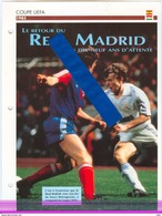 19/1 Fiche Football 25 X 18,5 Cm 2 Pages REAL MADRID ESPANA VIDEOTON SZEKESFEHERVAR HUNGARY BUTRAGUENO - Fútbol