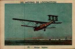 IMAGE...LES MOYENS DE LOCOMOTIONS...AVION BIPLAN. - Vieux Papiers