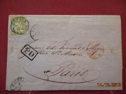 Lettre De Suisse De 1863 Pour La France - Lettres & Documents