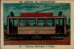 IMAGE...LES MOYENS DE LOCOMOTIONS...TRAMWAY ELECTRIQUE A TROLLEY - Vieux Papiers