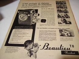 ANCIENNEAFFICHE  PUBLICITE CAMERA T 8 BEAULIEU  1958 - Photographie