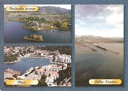 HR - Ploče - 3 Vues / Views / Bilder : Delta [Neretva], Bačinska Jezera [lac / Lake / See] - Croatia