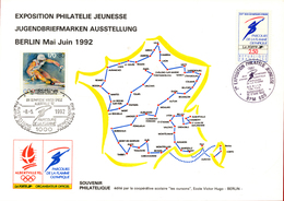 B-36661 Germany 1992. Philatelic Card A5 Size / Albertville Olympics. With 2 Stamps (Germany-France). - [7] République Fédérale