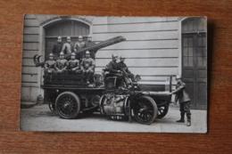 Carte Photo Camion De Sapeur Pompier De Paris  1910 - Firemen