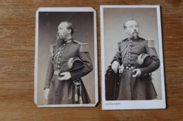 2 Cdv Militaires Second Empire Le Meme Officier  Par Pierre Petit - War, Military
