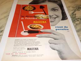ANCIENNE AFFICHE  PUBLICITE MAIZENA 1958 - Affiches