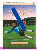 19/1 Fiche Football 25 X 18,5 Cm 2 Pages DANEMARK NEDERLAND SCHMEICHEL VAN BASTEN AC MILANO PENALTY - Voetbal