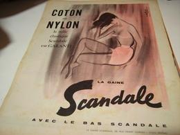 ANCIENNE AFFICHE PUBLICITE COTON NYLON SCANDALE  1958 - Publicités
