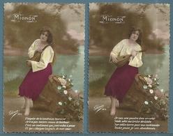 CP - JEUNE FEMME - MIGNON - 2 Cartes - Femmes