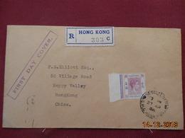 Lettre De Hong Kong De 1938 En Recommande - Hong Kong (...-1997)