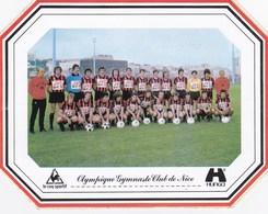 Autocollant Football Championnat France Division 1 Saison 1978/79 - OGC Nice - Le Coq Sportif Hunga - Guillou - Football
