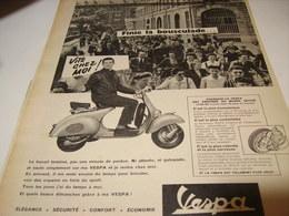 ANCIENNE AFFICHE PUBLICITE SCOOTER VESPA 1958 - Transportation