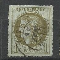 BORDEAUX N° 39C REPORT 3 Percé En Lignes OBL Rare - 1870 Bordeaux Printing