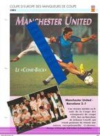 19/1 Fiche Football 25 X 18,5 Cm 2 Pages MANCHESTER UNITED ENGLAND BARCELONA ESPANA HUGHES SHARPE GOYCOCHEA - Soccer