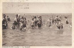 Mimizan-Plage (Landes) En 1939 - La Baignade, Bain Très Animé - Photo E. Vignes, Edition Dupau - Mimizan Plage