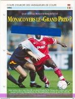 19/1 Fiche Football 25 X 18,5 Cm 2 Pages MONACO FRANCE AS ROMA ROME ITALIA ITALIE FOFANA - Football
