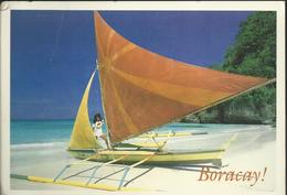 Beautiful Philippines - A Color Boracay Paraw (saling Boat) Ready For A Fun Ride......Photo René Thalmann - Philippines