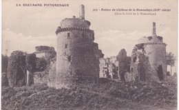 22 Côtes D'Armor - PLEDELIAC - Ruines Du Château De La Hunaudaye XIVe Siècle - Francia