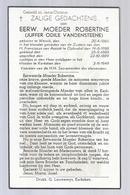 DP Eerw. Moeder Robertine (VANDENSTEENE) ° Wervik 1866 Opbrakel + Kerksken 1949 - Devotion Images
