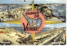 85 Plages Vendée N°390 Bis Croix De Vie St Gilles Brétignolles Les Sables D'Olonne Dyna Panhard Bicolore édit P.Marlin - Saint Gilles Croix De Vie