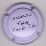 Capsule Champagne COIZY P&F ( 9 ; Mauve Inscription Noire ) {S51-18} - Champagne