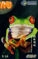 China Tietong Prepaid Cards, Guangxi Province, Frog (1pcs) - Insects
