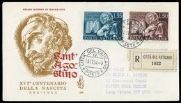 1954, Vatikanstaat, 225-26, FDC - Vatican