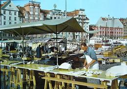 BERGEN Parti Fra Fisketorget Fish Market Fischmarkt - Pêche