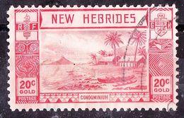 NEW HEBRIDES 1938 20c Scarlet SG55 Used. - English Legend