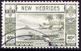 NEW HEBRIDES 1938 40c Grey-Olive SG58 Used - English Legend