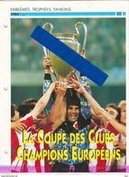 19/1 Fiche Football 25 X 18,5 Cm 2 Pages  Coupe Des Clubs Champions BELGRADE YOUGOSLAVIA ALEXANCO BARCELONA ESPANA - Fútbol
