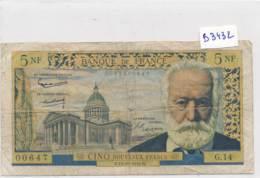 Billet - B3432 - France 5 Nouveaux Francs 1959  ( Catégorie,  Nature état ... Se Référer Au Double Scan) - 1955-1959 Sovraccarichi In Nuovi Franchi