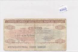 Billet - B3437 - Italie 100 Lire 1977  ( Catégorie,  Nature état ... Se Référer Au Double Scan) - [ 2] 1946-… : Republiek