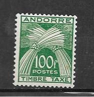 Andorre Taxe De 1946/50 N°41  Neuf Petite Trace De Charnière (cote80€) - Timbres-taxe