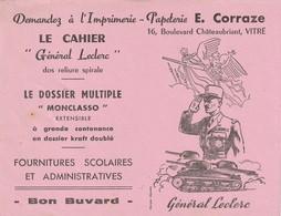 Rare Buvard Le Cahier Général Leclerc - Enfants
