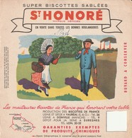 Rare Buvard Biscottes St Honoré Le Nord - Biscottes