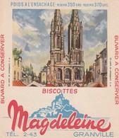 Rare Buvard Biscottes Magdeleine Granville Cathédrale De Saint-lô - Biscottes