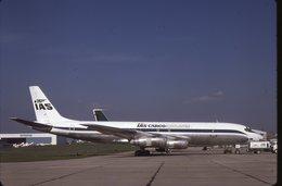 SLIDE / AVION / AIRCRAFT   KODAK  ORIGINAL  IAS CARGO AIRLINE  DC 8  G-BSKY - Diapositives