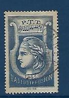 "FR Radiodiffusion YT 1 "" Sans Valeur Bleu "" 1935-37 Oblitéré - Radiodiffusion"
