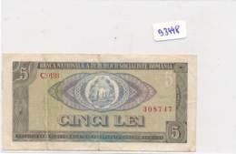 Billet - B3448 - Roumanie 5 Lei ( Catégorie,  Nature état ... Se Référer Au Double Scan) - Roumanie