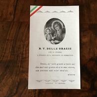 """Antico Santino Holy Card """" B.V. Delle GRAZIE A Poggio Di S.Giovanni Persiceto """" - Religione & Esoterismo"""