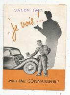 Publicité ,automobile ,salon1947, MONOPOLE-POISSY , Seine Et Oise , MP7 ,piston-segments à Revêtement D'étain , 4 Scans - Publicités