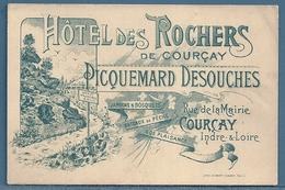 CARTE DE VISITE - HÔTEL DES ROCHERS A COURÇAY (INDRE ET LOIRE) - PIQUEMARD DESOUCHES - Cartes De Visite