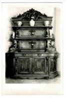 Photo (107 X 159 Mm) Bahut Vaisselier Ancien 4 Portes, 4 Tiroirs, Bel Ornement - Objets