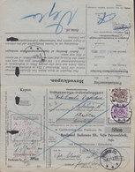 Denmark Indkasserings-Indbetalingskort Postal Collect Card VEJLE PAPIRVAREFABRIK, VEJLE 1925 NYKJØBING JYLL. (2 Scans) - Briefe U. Dokumente